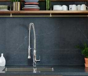 Contemporary Kitchen with Galleria Feature Faucet