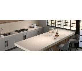 Contemporary Kitchen featuring functional Eternal Marfil Countertop
