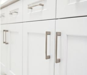Clean, minimalist and sophisticated white kitchen doors and drawer faces